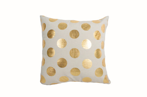 "Foil Dots Large Gold 18x18""-Polyester Filled"