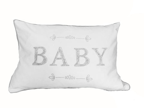 "Typo Baby Grey 14x20""-Polyester Filled"