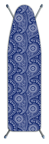 "Deluxe Extra-Thick Ironing Board Cover 15x54"" - Blue Paisley"