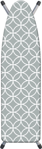 "Deluxe Extra-Thick Ironing Board Cover 15x54"" - Gray Circles"