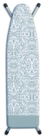 "Deluxe Extra-Thick Ironing Board Cover 15x54"" - Damask Grey"