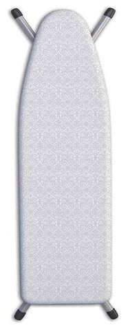 "Thick Ironing Board Cover 15x54"" - Small Grey Damask"