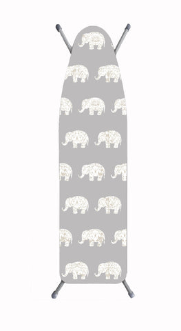 "Deluxe Extra-Thick Ironing Board Cover 15x54"" - Damask Elephant"