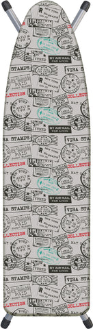 "Deluxe Extra-Thick Ironing Board Cover 15x54"" - Travel Stamps"