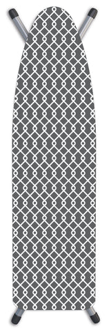 "Deluxe Extra-Thick Ironing Board Cover 15x54"" - Chainlink Grey"