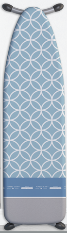 European Ironing Board Cover -Circles Blue