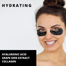 Load image into Gallery viewer, Charcoal  + Hyaluronic Hydrogel Eye Mask