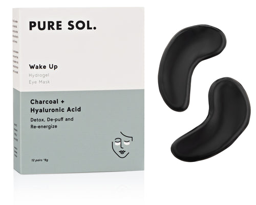 Wake Up Hydrogel Eye Mask Charcoal  + Hyaluronic Acid
