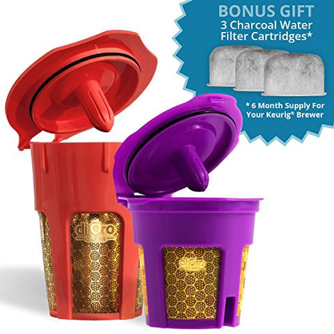 aa3d48901 MaxBrew 24K Gold Reusable K-CarafeK-CupWater Filter for Keurig 2.0 - The  Ultimate Accessory Pack