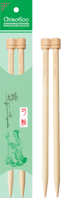 "ChiaoGoo - 9"" Single Point Straight Needles, Natural Color"