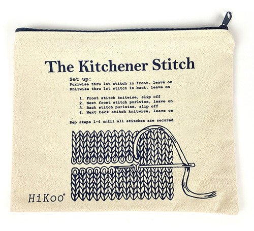 HiKoo - Kitchener Stitch Zip Pouch