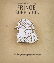 Fringe Supply Co - Knitmoji Enamel Sheep Pin