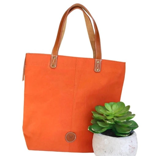 Le Papillon - Alsace Waxed Canvas & Genuine Leather Tote