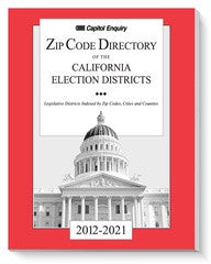 2012-2021 Election District ZipCode Book California
