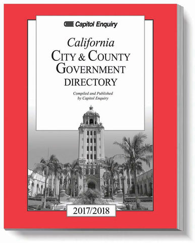 2017/2018 California City & County Government Directory