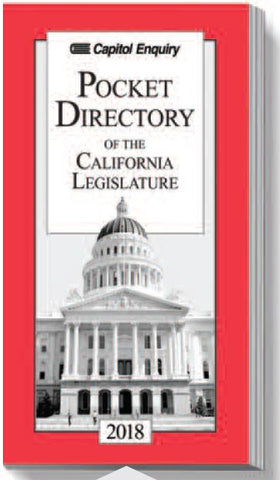 2018 Pocket Directory of California Legislature