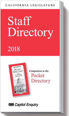 2018 Staff Index Directory - California Legislature