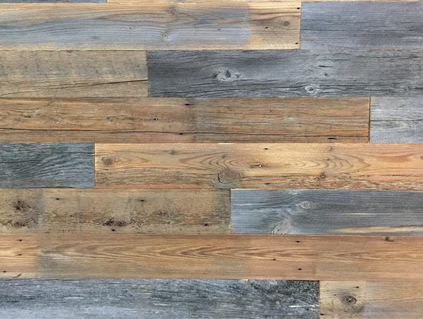 Cheyenne  S/O- 20 SF Pre Mixed Reclaimed Wood Panels 5 inch Wide