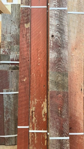 Barn Red 5 inch Reclaimed Wood Panels