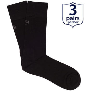 The Barbarian<br/> 80% Combed Cotton Dress Socks<br/> Black<br/> 3-pack