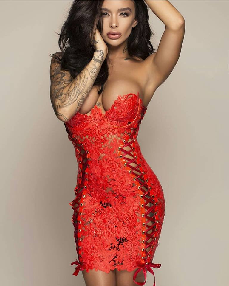 Corset Dress Red