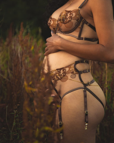 Divine Feminine Ouvert Back High Waist Brief