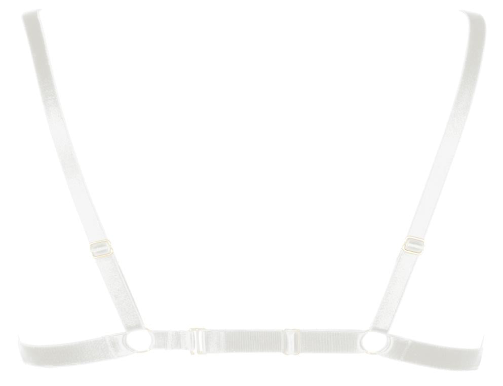 ANNABEL HARNESS BRA - IVORY - Back product - beautifullyundressed.com