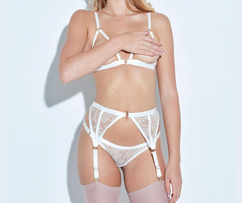 ANNABEL HARNESS BRA - IVORY - Front - beautifullyundressed.com
