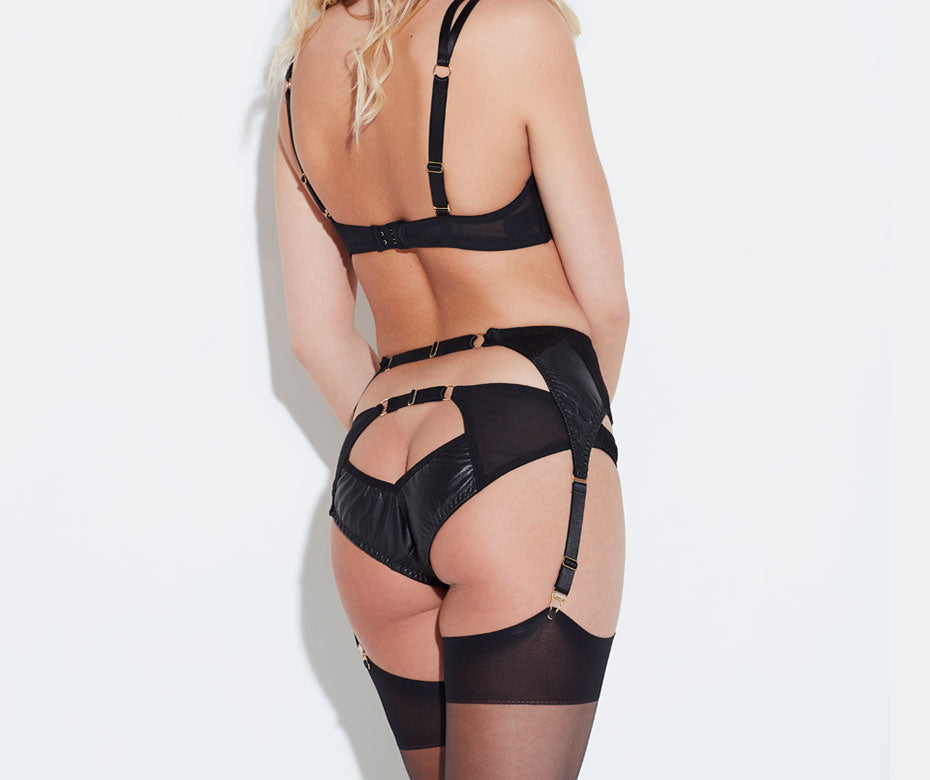 AVA LEATHER SUSPENDER BELT