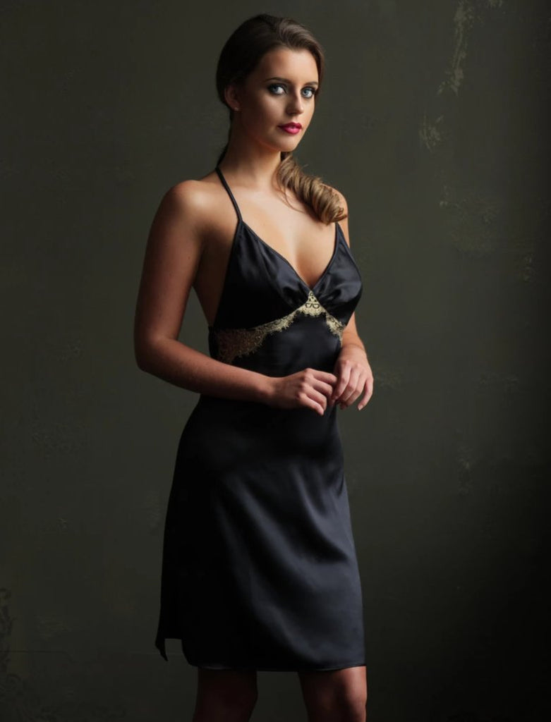 Emma Harris Lingerie Cleo Slip Dress - Model - Front - Beautifully Undressed