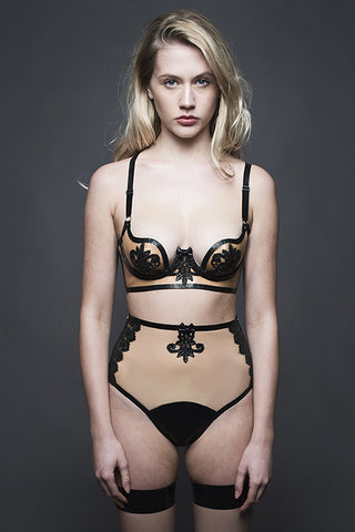 Maia Bottomless Knicker - Black