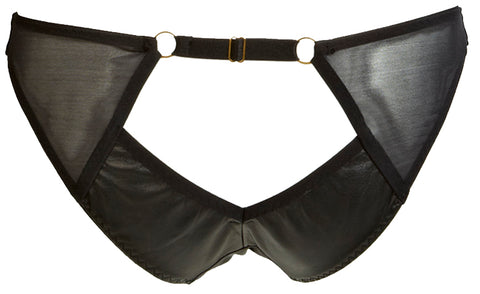 AVA MINI LEATHER PEEPHOLE BRIEF