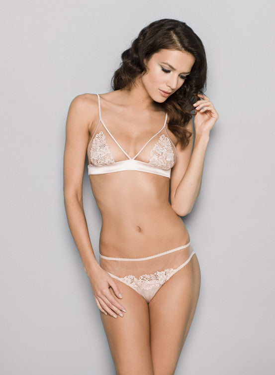 Fleur of England Blush Brief & Boudoir Bra