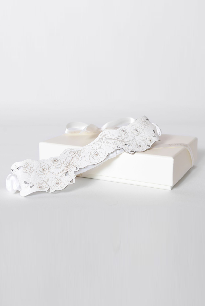 Pompadour Couture Floral leather garter