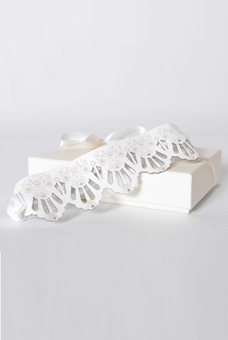 Pompadour Couture Floral leather garter, style 2