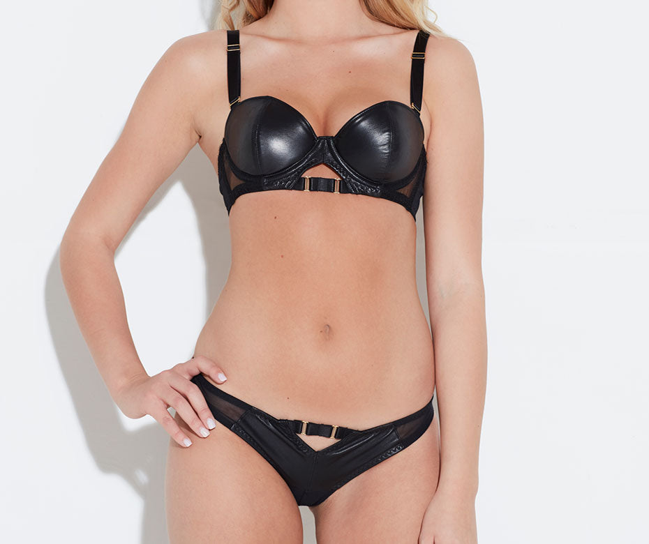 Montana Leather Balconette Bra