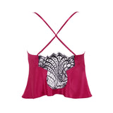 Emma Harris Renée Raspberry Camisole - Product - back - Beautifully Undressed
