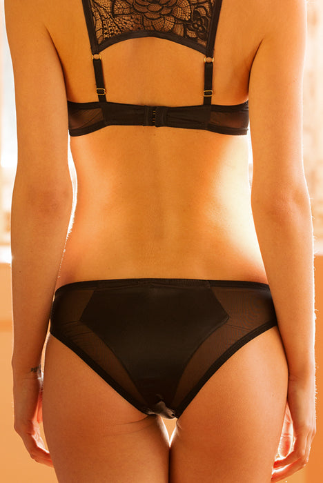Emma Harris Tiffany Black Brief - Model - Back - Beautifully Undressed