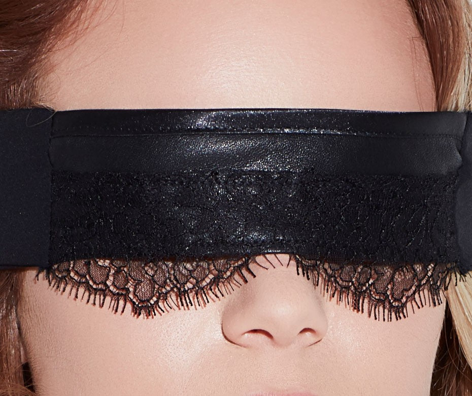 LEATHER & LACE BLINDFOLD
