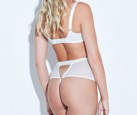 ARABELLA IVORY BRALET  - Model back - beautifullyundressed.com
