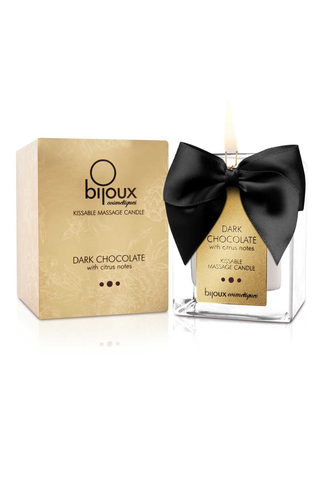 Bijoux Indescrets Dark Chocolate Kissable Massage Candle