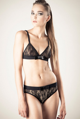Maike Lace Knickers - Black