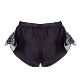 Tiffany Black Flared Shorts - Product shot - Back - Beautifully Undressed