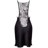 Emma Harris Tiffany Black Short Slip - product - back - Beautifully Undressed