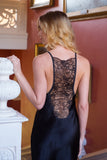 Emma Harris Tiffany Black Short Slip - model - back - Beautifully Undressed