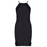 Emma Harris Tiffany Black Short Slip - product - front - Beautifully Undressed