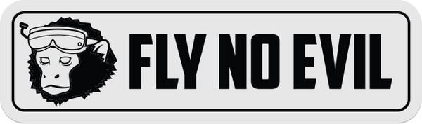 Fly No Evil Sticker