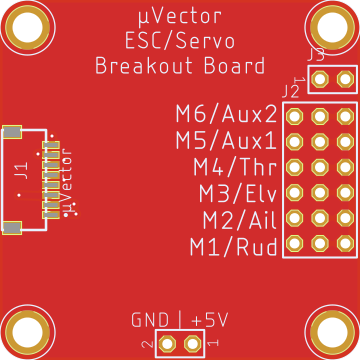 Eagletree Systems MicroVector Servo Adapter Board