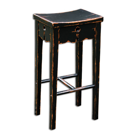 Uttermost 25625 Dalit Black Bar Stool - UTMDirect