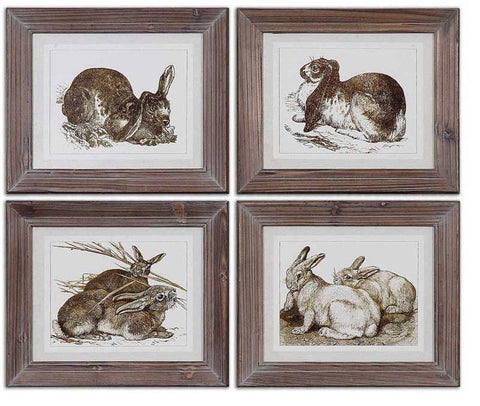 Uttermost 41392 Regal Rabbits Framed Art - UTMDirect